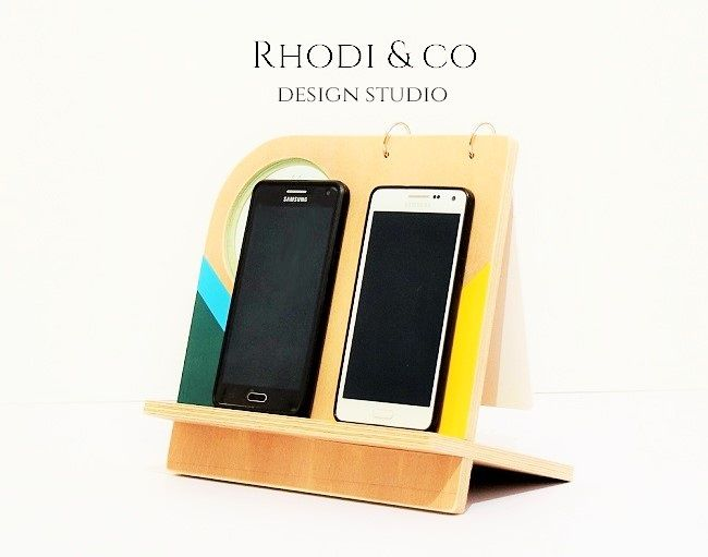 Wood mobile phone stationery dock with white board note pad www wood mobile phone stationery dock with white board note pad rhodiandco sciox Gallery