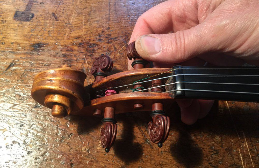 Violinmaking Appropriate Pressure for Tuning Pegs For