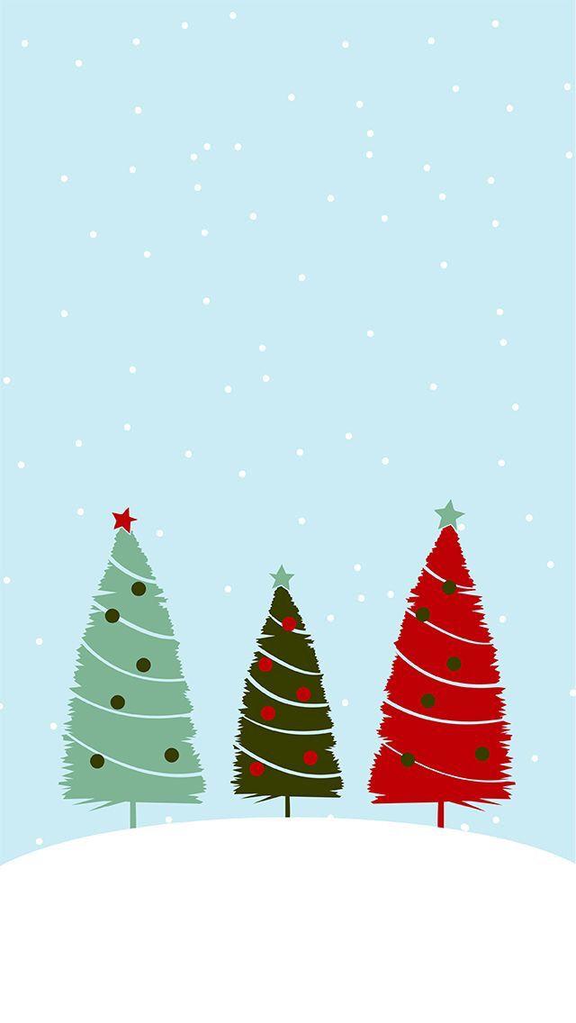 trees - Christmas Wallpaper For Phone