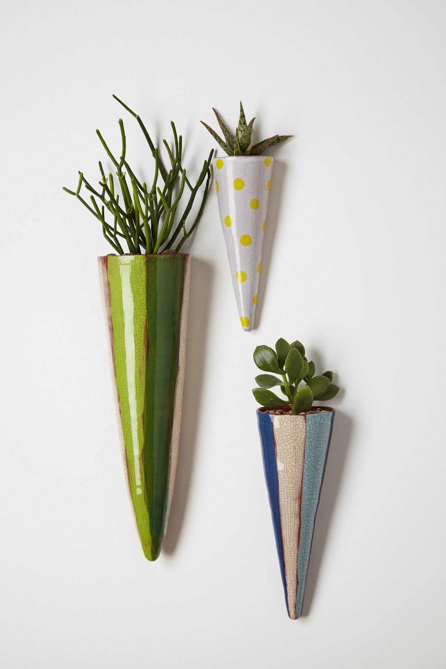 Carnival Cone Wall Planter Ceramic wall planters