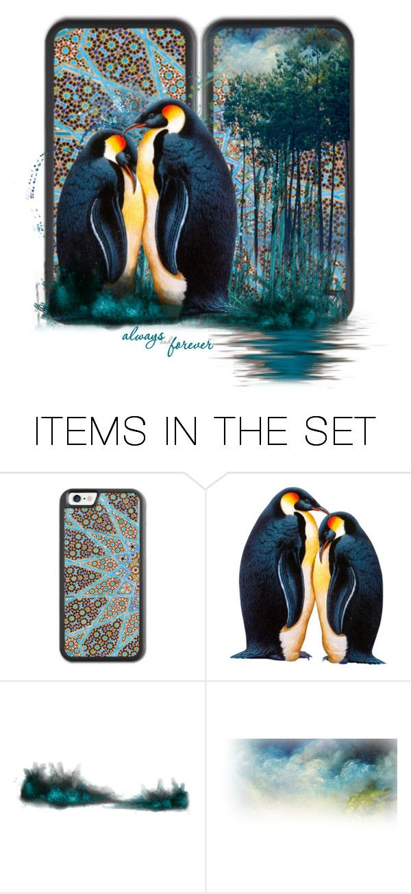 """""""Penguin Love"""" by newsjoan ❤ liked on Polyvore featuring art"""