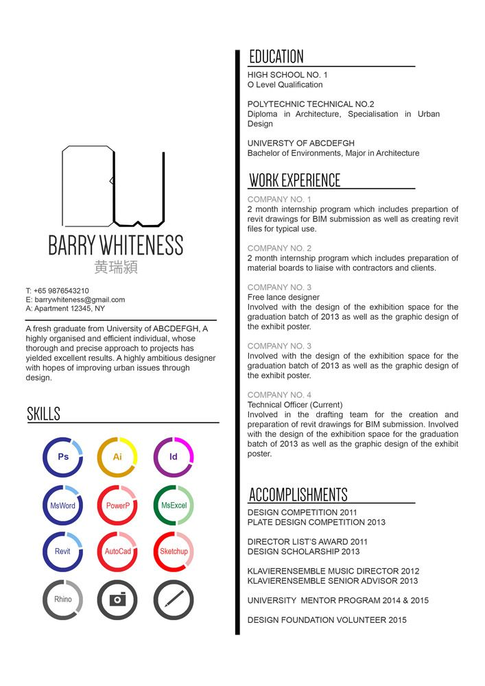 Gallery Of The Top Architecture Resume Cv Designs 8