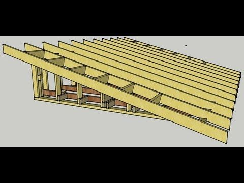 Skillion Roof Erection Procedure Youtube Building