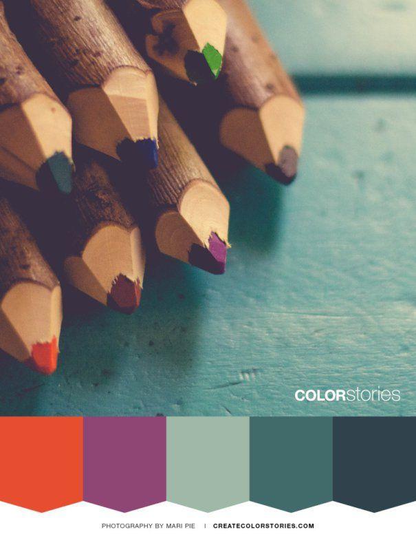 Color Stories Palette: Chiseled | createcolorstories.com #colorpalette #colours #colorsinspiration #inspiration #colorscheme #design #colorpencils #chiseledpencils #artsupplies #colorstoriesblog