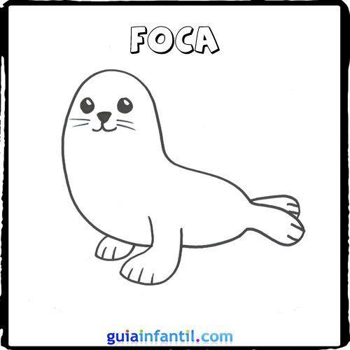 2196-4-foca-dibujos-de-animales-marinos-para-pintar-con ...