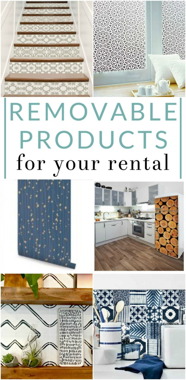 8 Removable Products For Your Rental Cute Apartment