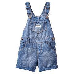 Baby Girl OshKosh B'gosh® Patterned Shortalls