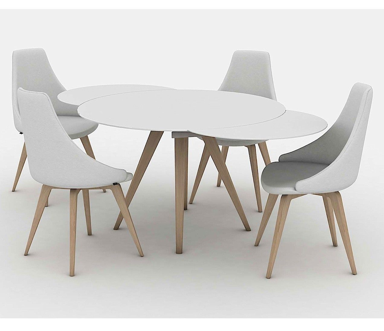 Elan Legno Round Extending Dining Table