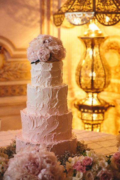 Ombre blush wedding cake | Fresh peonies | Sam Gregory Photography