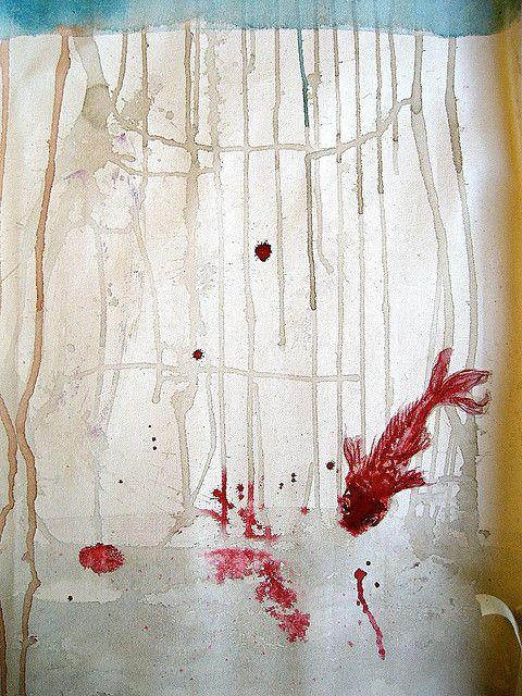 acuarela sobre tela, 2008. tipo japo by maria jose illanes, via Flickr
