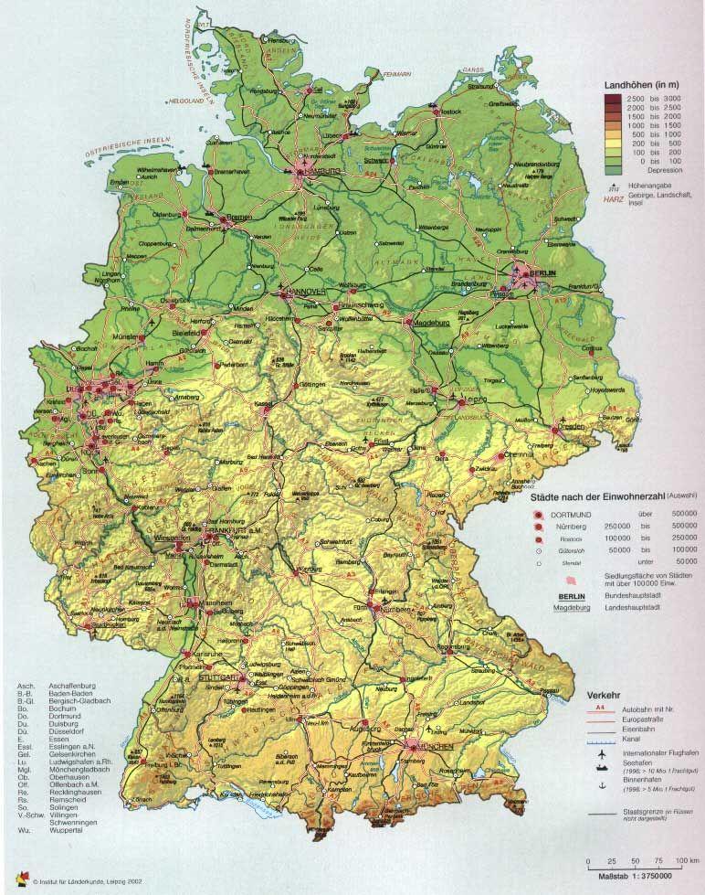 Deutschlandkarte Mit Stadten Mit Bildern Deutschlandkarte