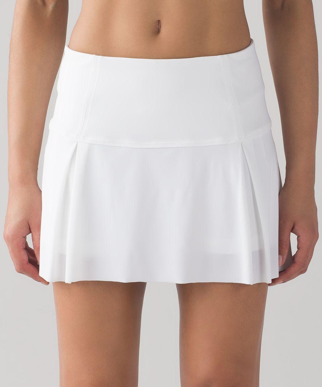 Lululemon Run Pace Setter Skirt White Lulu Fanatics Tennis Clothes Tennis Skirt Lululemon Skirt