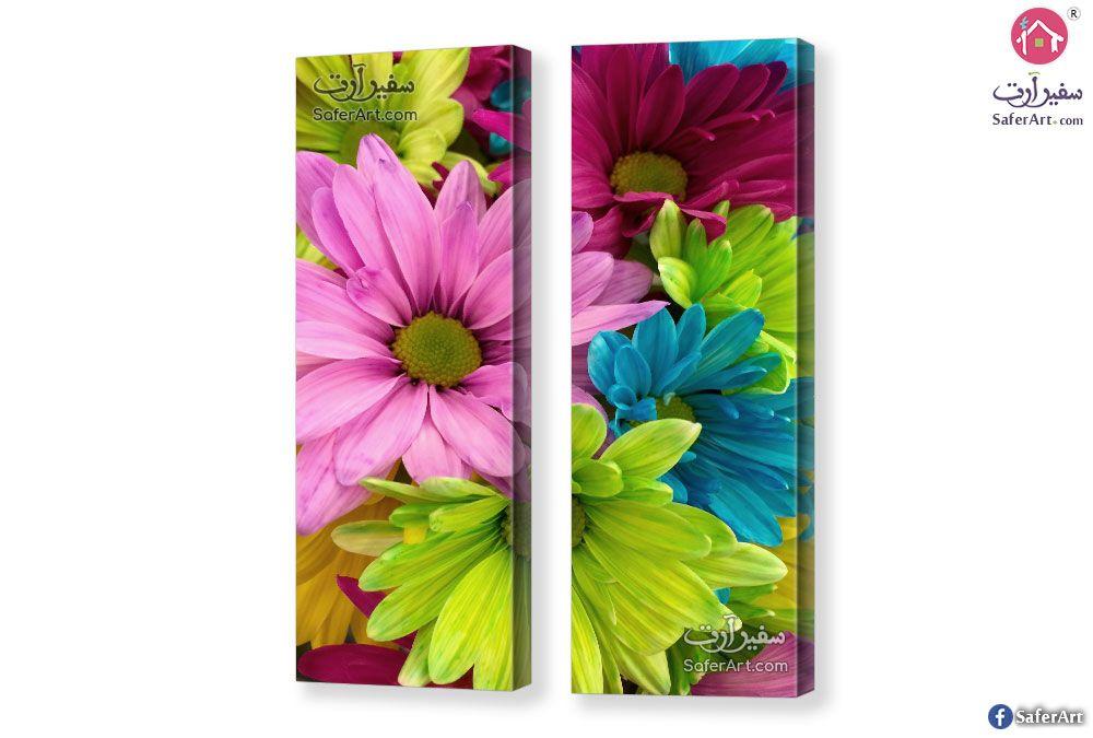 تابلوه مودرن زهور ملونه سفير ارت للديكور Colorful Flowers Color Flowers