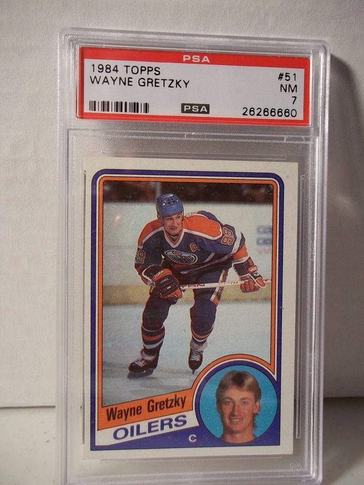 1984 topps wayne gretzky psa nm 7 hockey card 51 nhl
