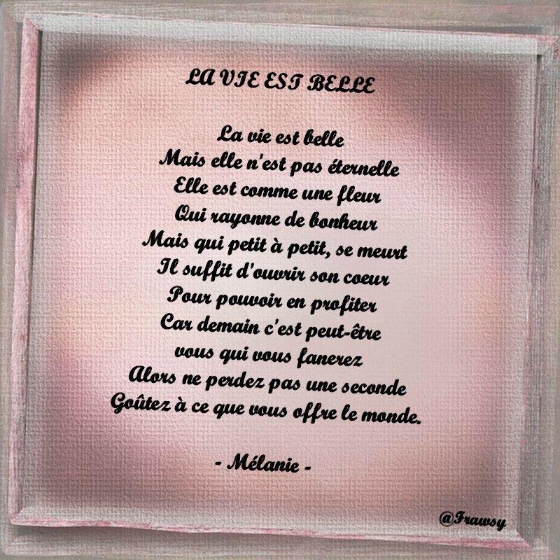 Poème Damour La Vie Est Belle Frawsy La Vie Est Belle