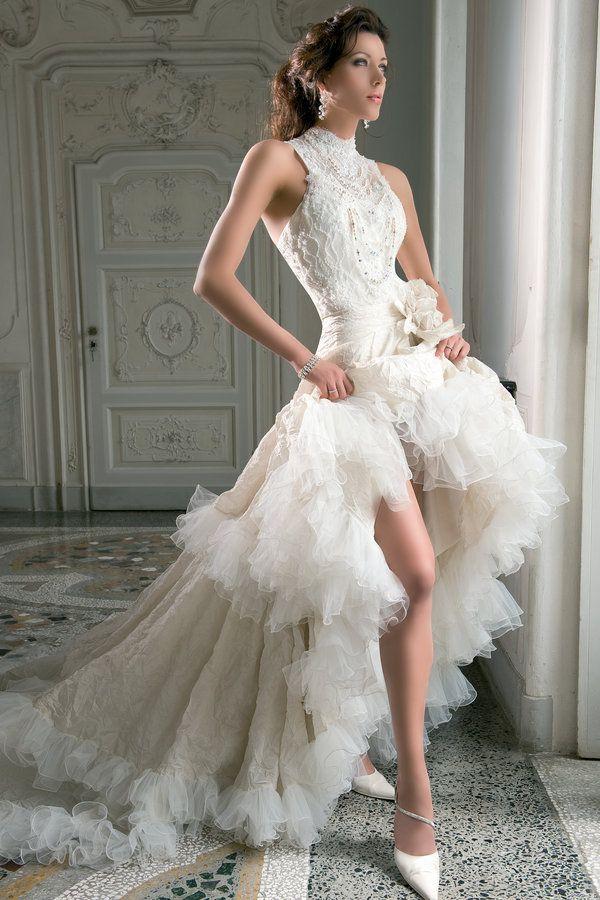 Demetrios Blue B158 High Low Wedding Dress Love This For A Vow