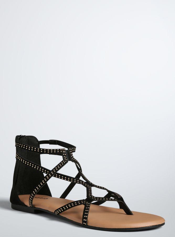 cb342ce194fb Torrid Studded Gladiator Sandals (Wide Width)