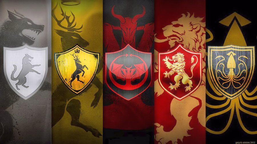 Got Houses Sigils Game Of Thrones Houses Game Of Thrones