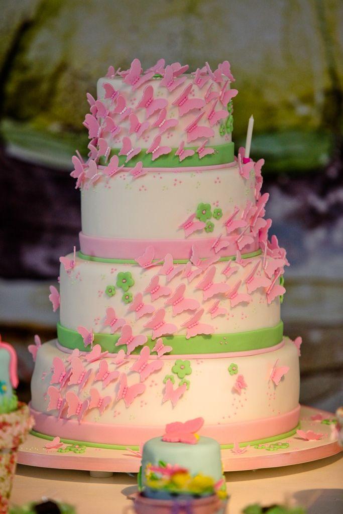 Linda festa tema borboletas giovana inesquecvel festa flores bolo decorado rosa com flores para jardim de borboletas de meninas giovana 01 ano altavistaventures Image collections