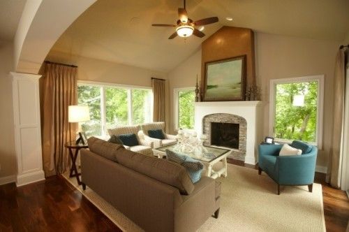 Nice Living Space With Pops Of Color Traditional Family Rooms