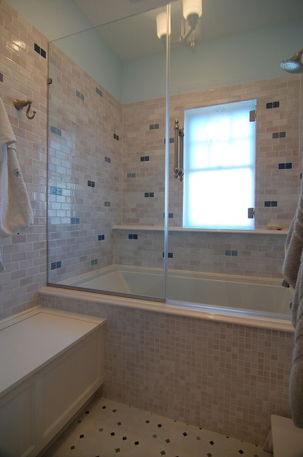 The Tiles That Bind Tub To Shower Conversion Shower Tub Complete Bathroom Renovations