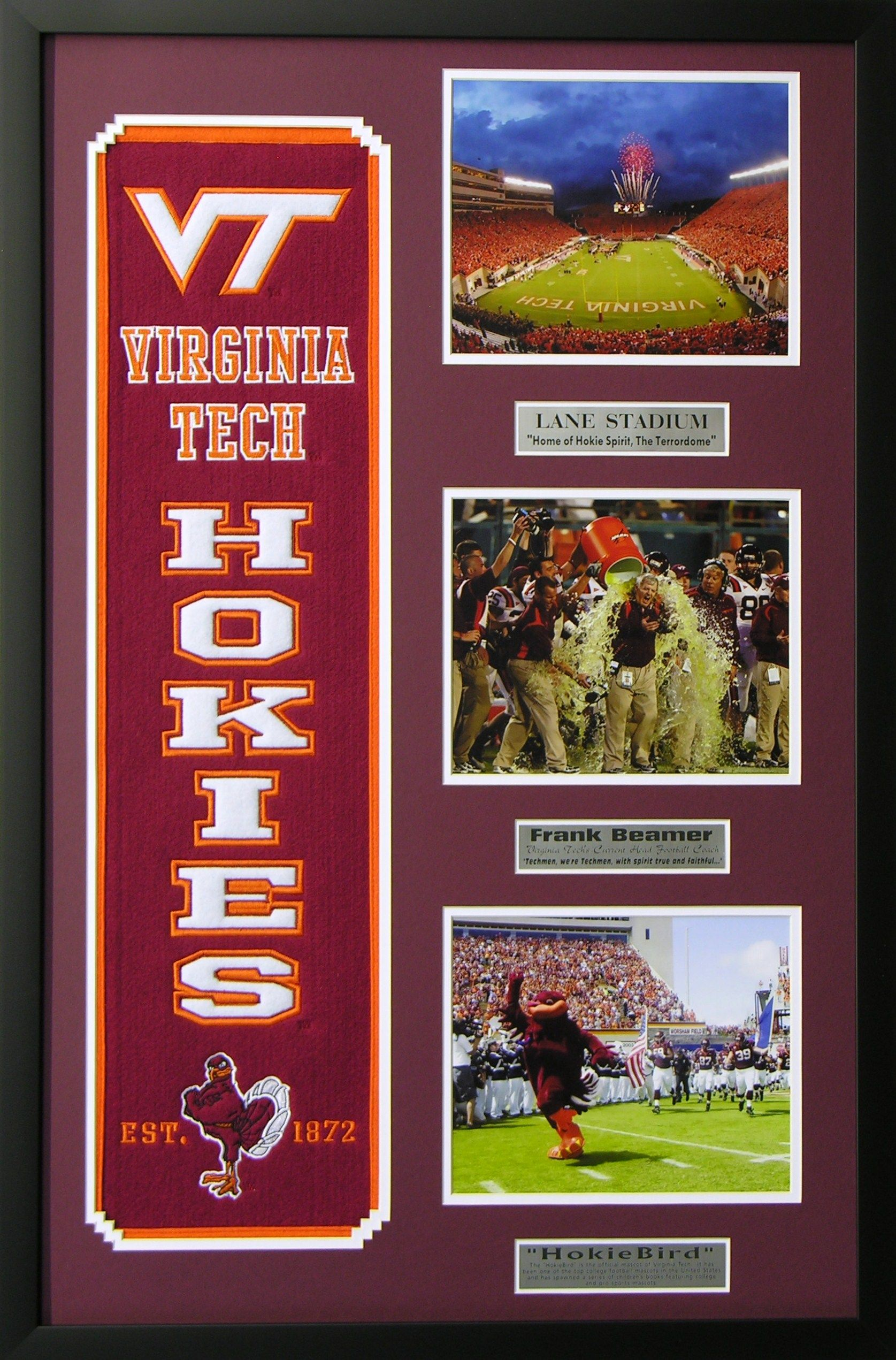 virginia tech ncaa heritage wall art perfect decor for a man cave basement or