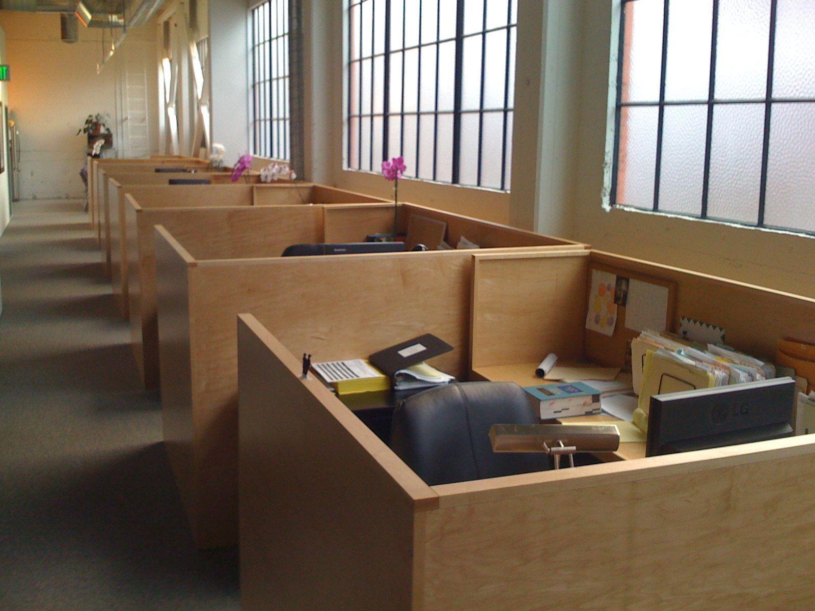 Wood Cubicle Office Build Out Ideas Pinterest