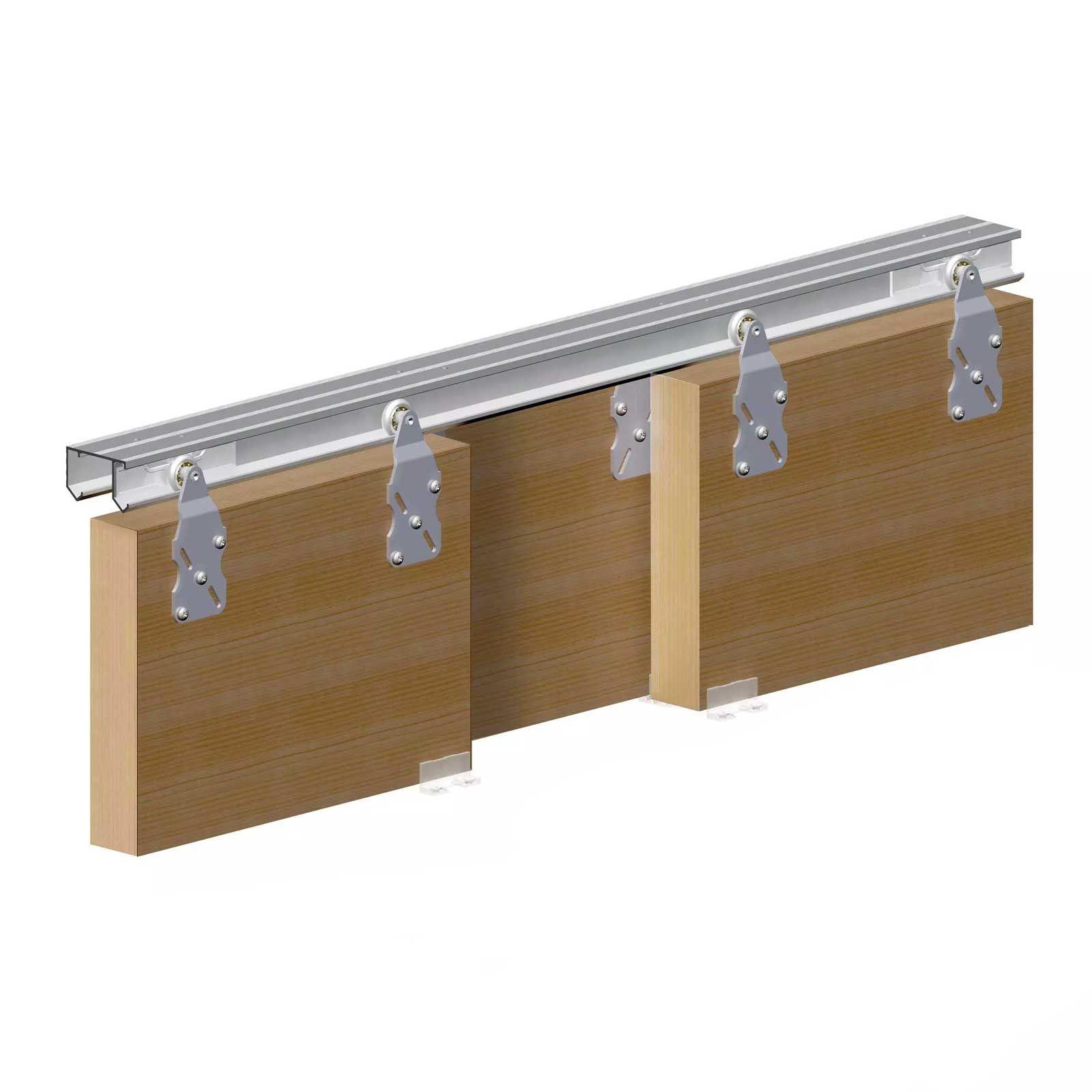 Horus Top Hung Sliding Door System Wardrobe Track Kit Sliding