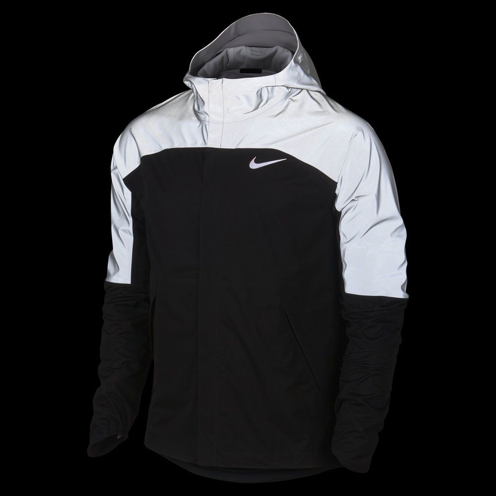 Nike Shieldrunner Flash Running Jacket Mens Black