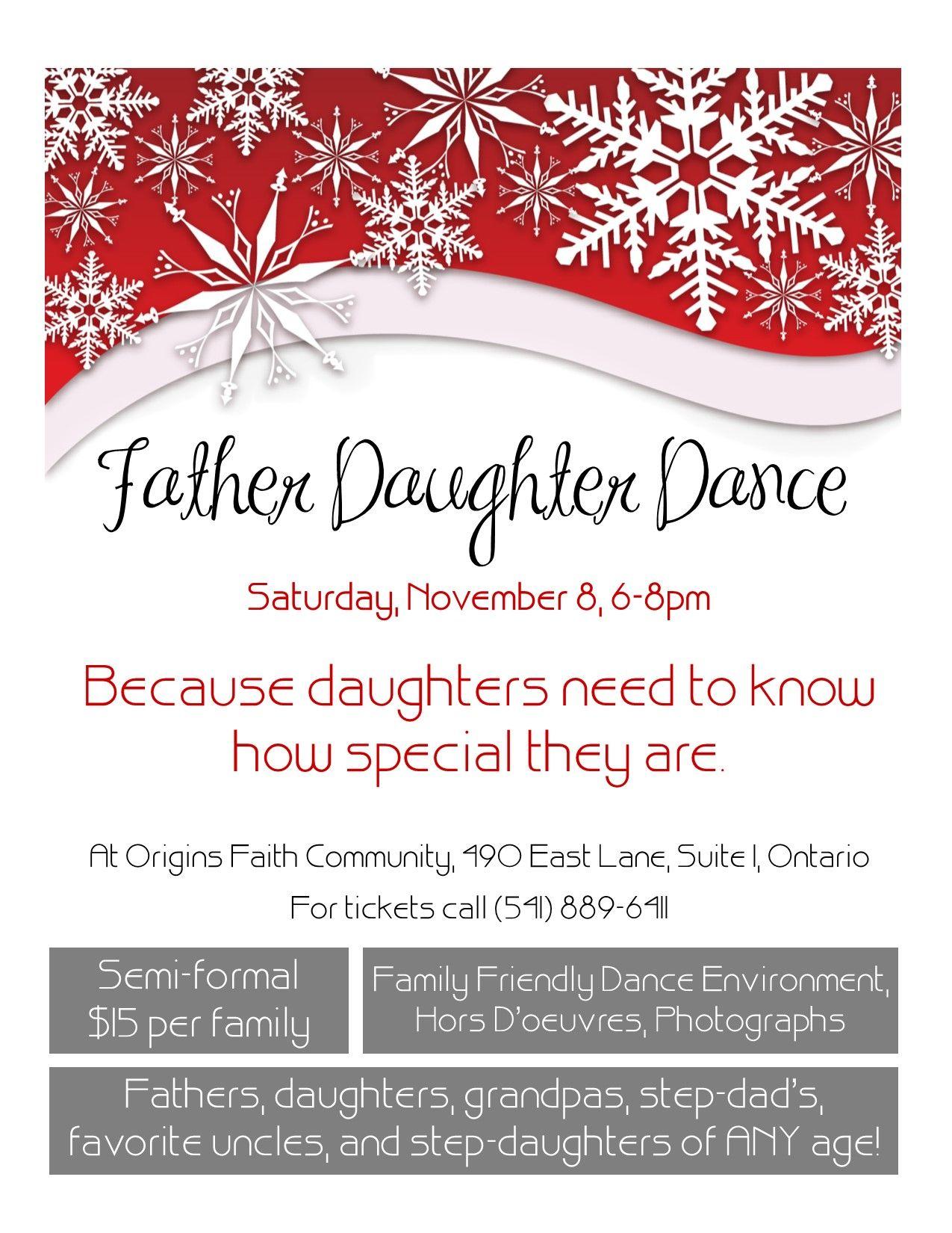 Father Daughter Dance Flyer 1275x1650 Pixels