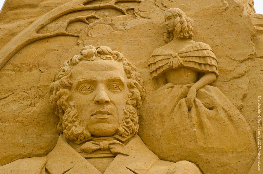 Выставка скульптур из песка в Коломенском (11 фото)