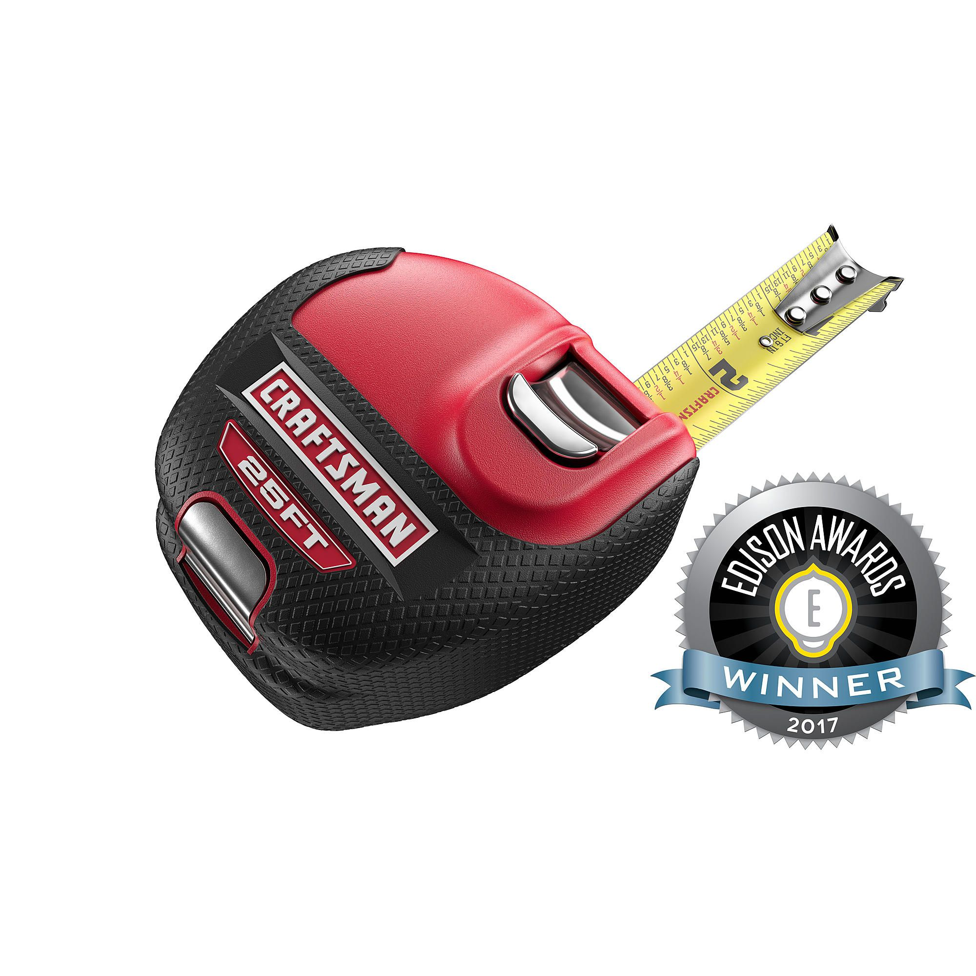 The Craftsman Sidewinder 25 Strong Tape Measure Strong Has A Lay Flat Design And Steel Tang Which Keeps It Stable When Y Strong Tape Tape Measure Craftsman