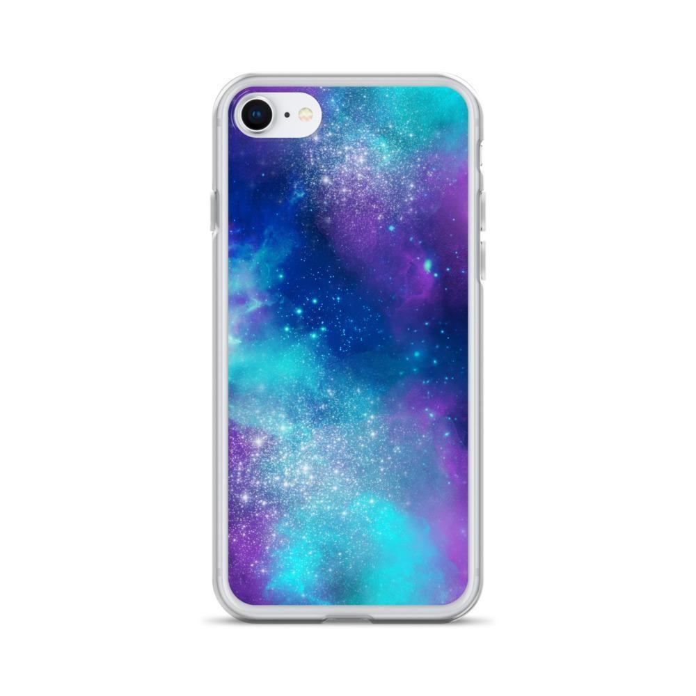 Purple and Teal Nebula iPhone Case - iPhone SE