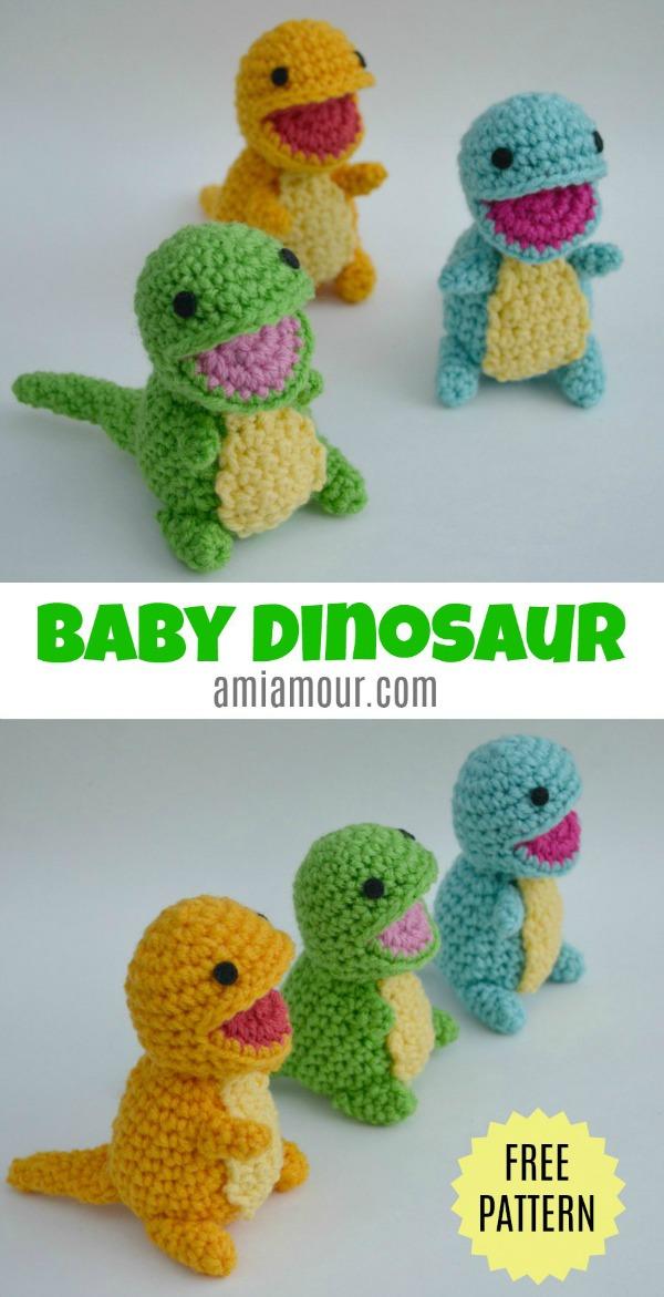 Dinosaur Amigurumi Pattern #crochetdinosaurpatterns