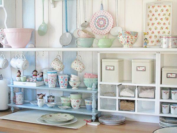 Shabby Kitchen Storage In Perfect Pastel Shades