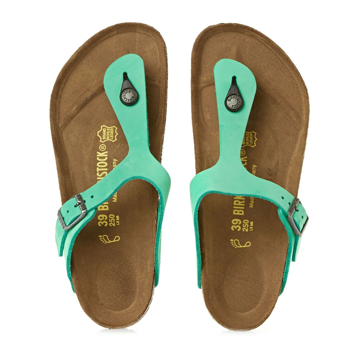 brand new 03c6c c41ec Birkenstock Gizeh Nubuck Sandals - Mint | Free UK Delivery ...