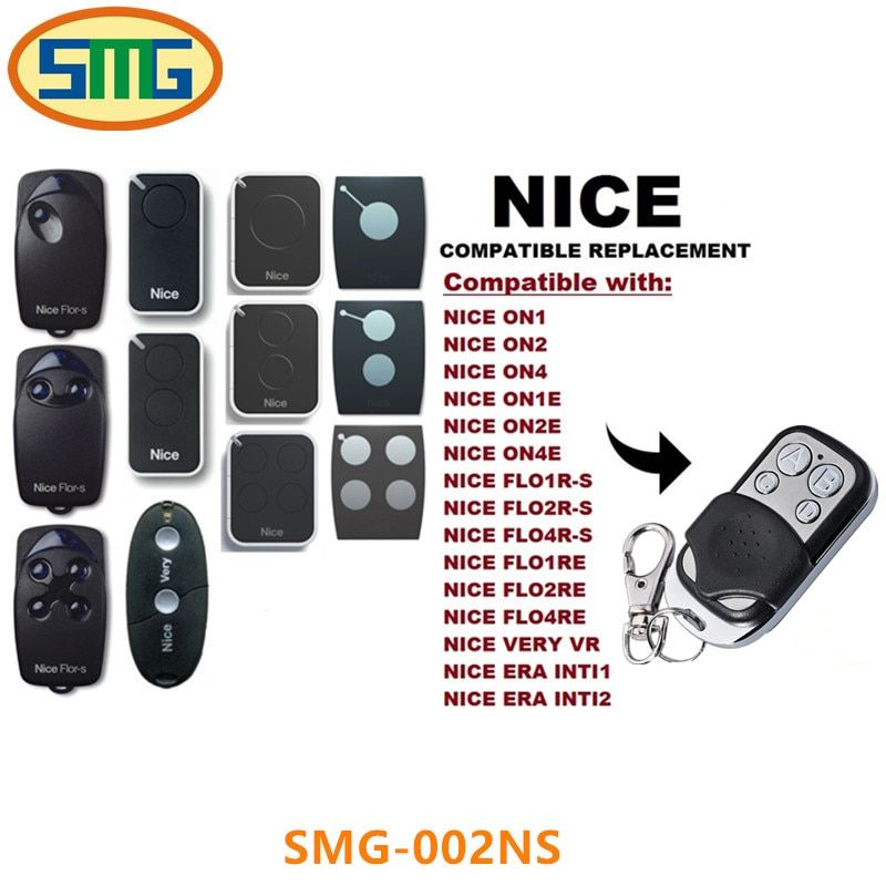 Free Shipping Nice Flors Garage Gate Remote Control Nice Flor S Remote Control Duplicator Fob 433 92m Gate Remote Garage Door Remote Garage Door Remote Control