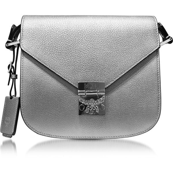 MCM Designer Handbags Patricia Park Avenue Spike Silver Leather Small...  ( 735) 9a7844bb3ef88