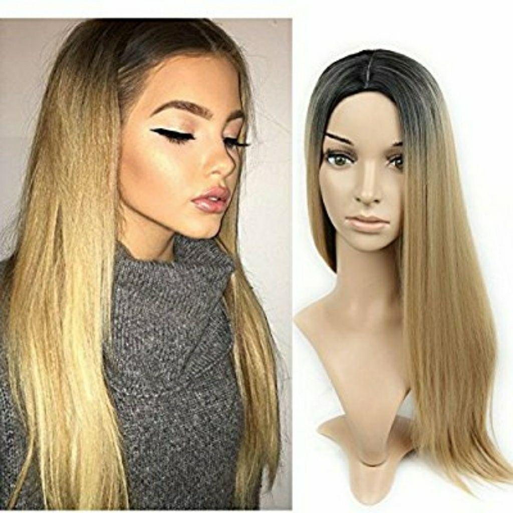 Brown Blonde Full Wig