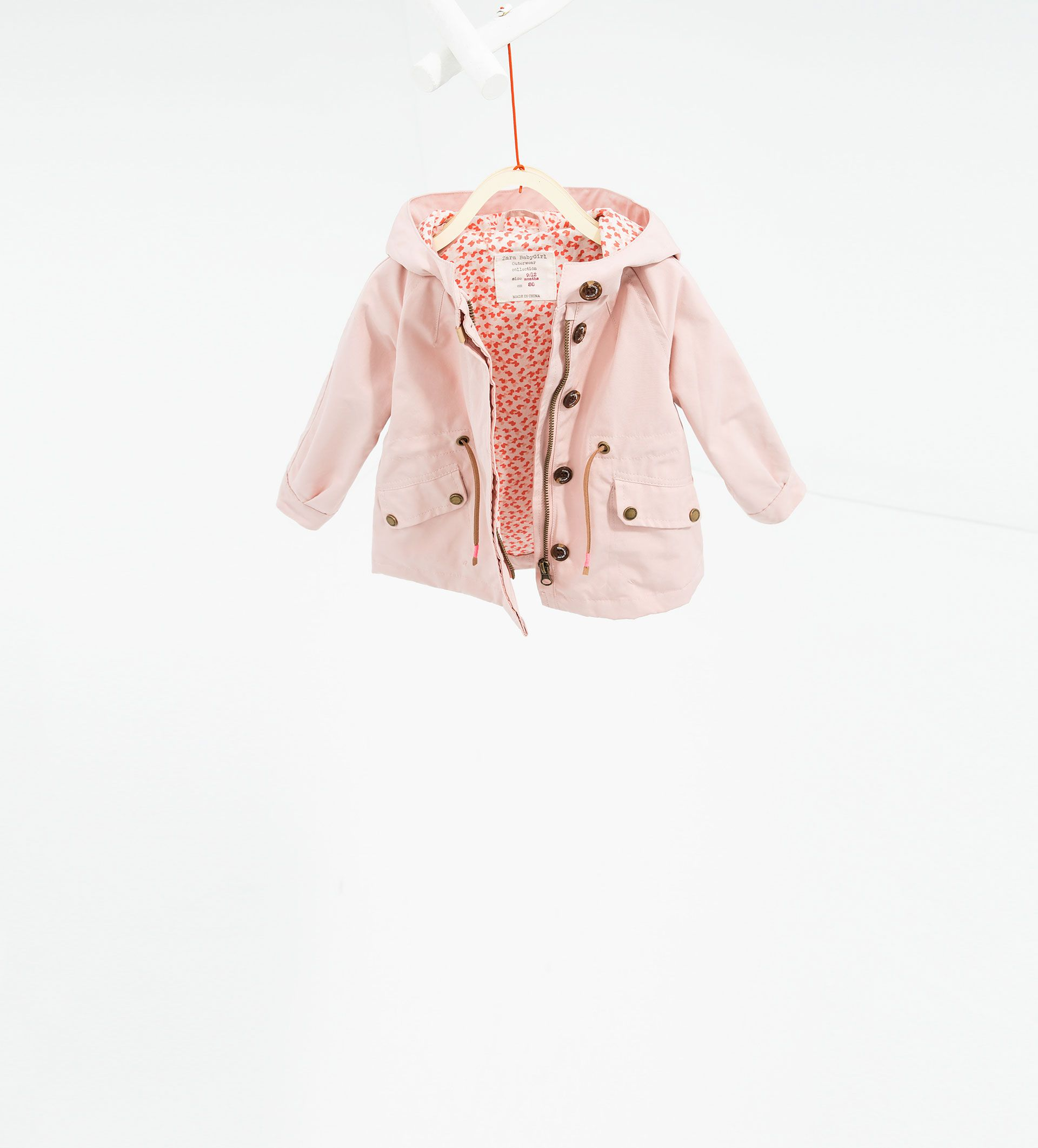 Hooded trench coat - JACKETS - BABY GIRL | 3 months - 3 ...