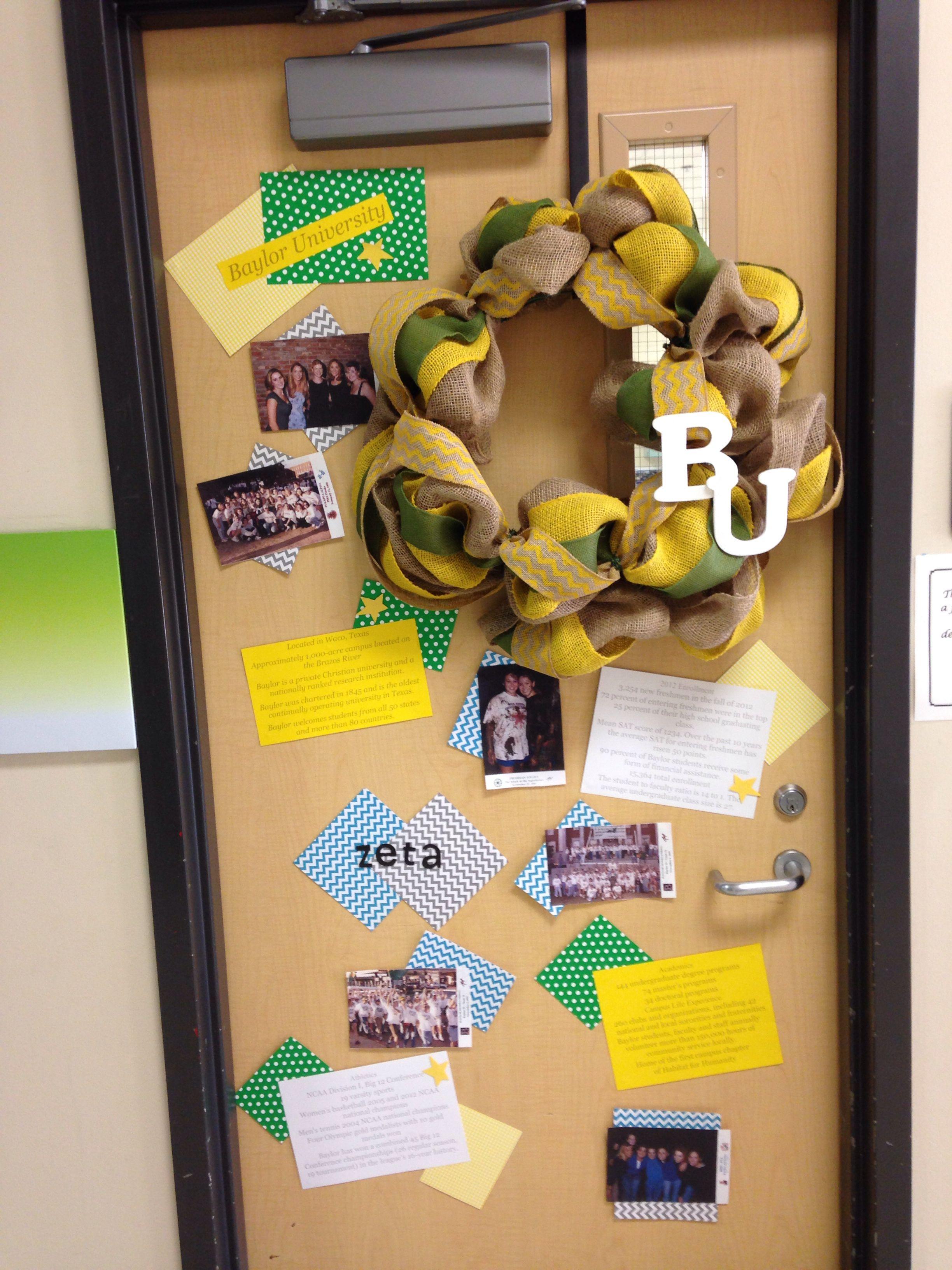 College Week Door Decorating Contest Baylor Proud