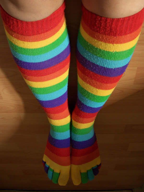 Giant rainbow legs