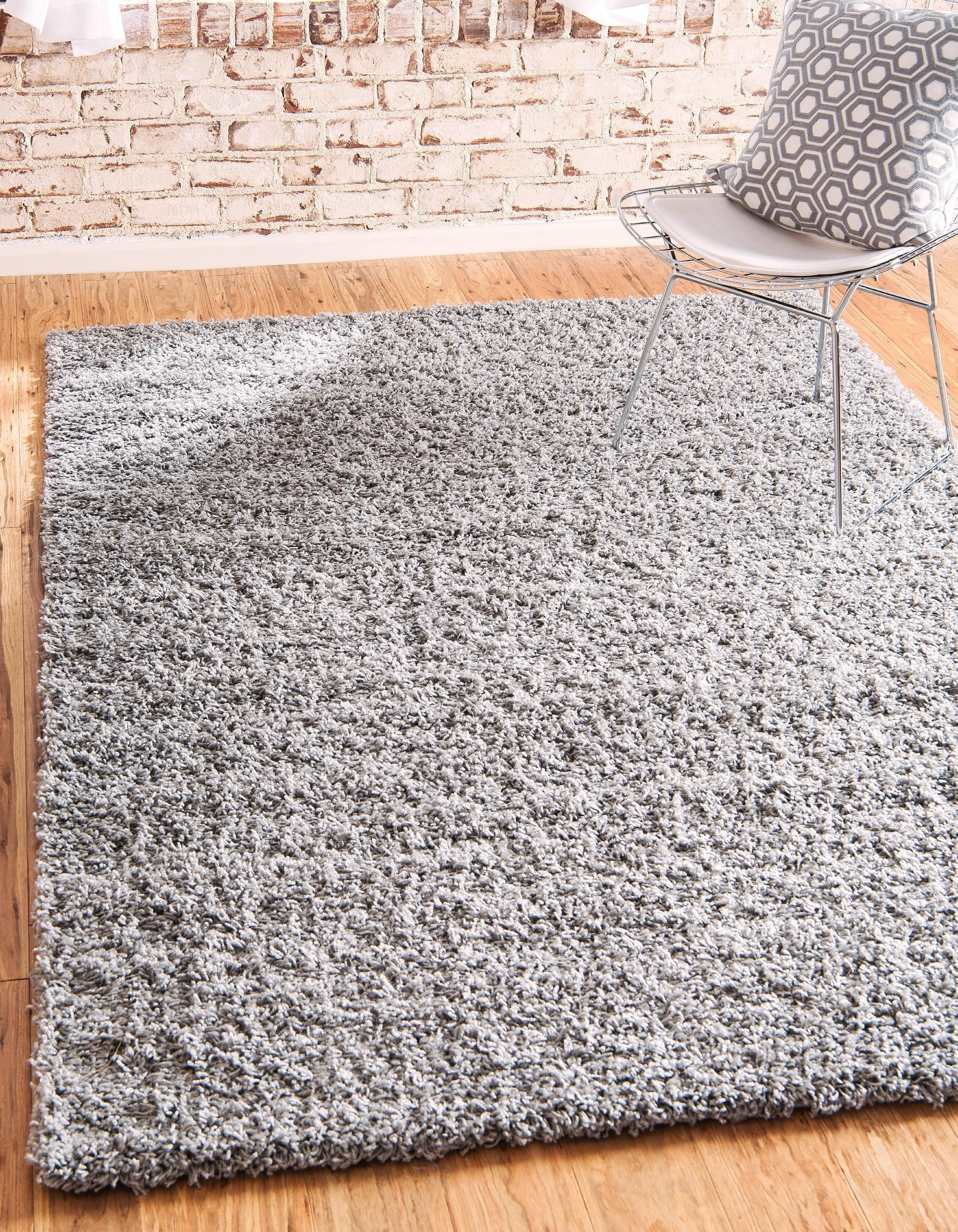 Cloud Gray 8 X 10 Solid Shag Rug Area Rugs Esalerugs Plush Area Rugs Rugs Area Rugs