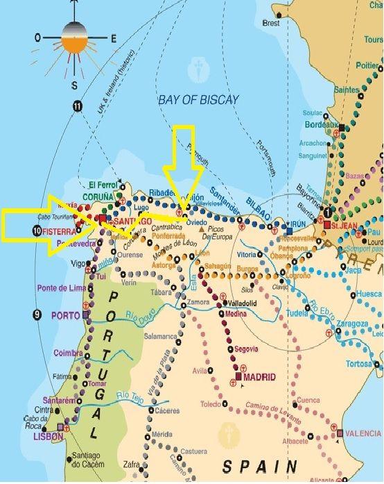 camino de santiago map route pdf