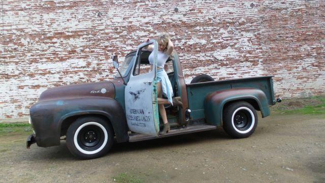 1955 Ford F100 F 100 Custom Cab Patina Pickup 1948 1949 1951 1952
