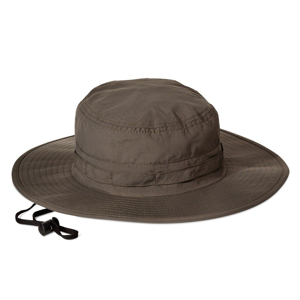 Men's Nylon Outback With UV Bullet Band Floppy Hats - Olive L/Xl, Green