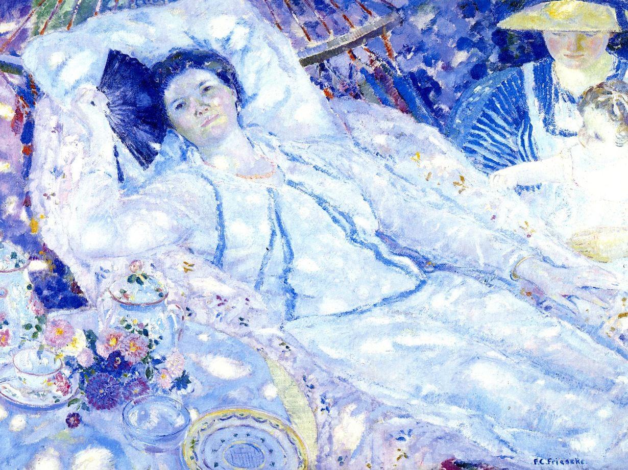 Frederick Carl Frieseke - The Hammock (1915)