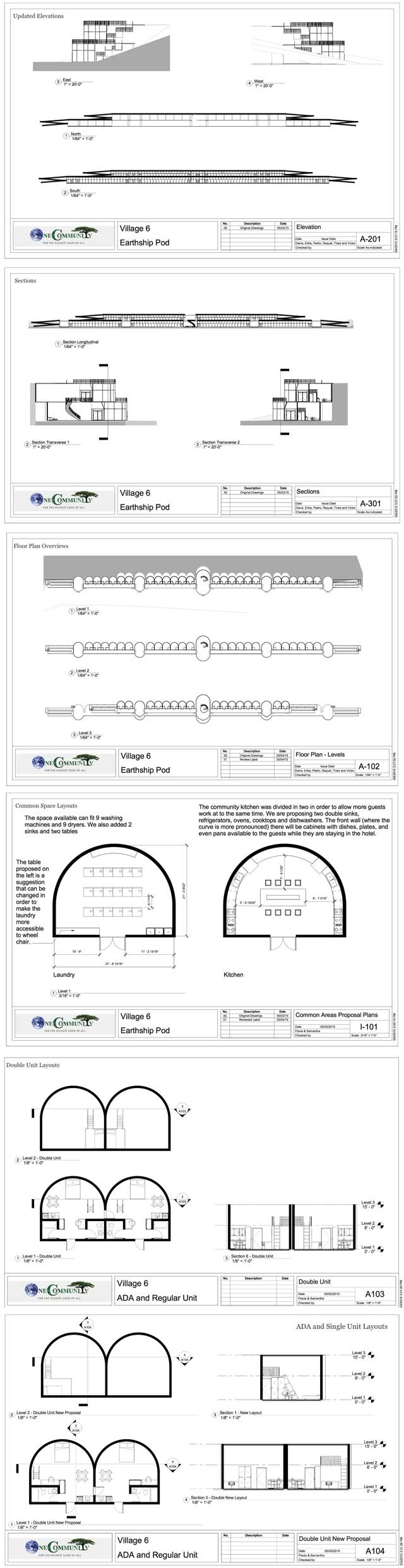 Second Round of Design Layouts for Earthship Village - Click to Visit Page, http://www.onecommunityglobal.org/earthship-village/
