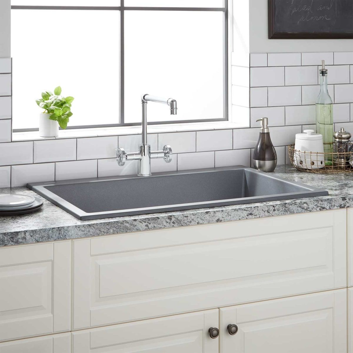 Signature Hardware 941022 In 2020 Composite Kitchen Sinks