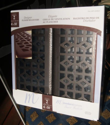 Modern Homes Register Floor Vent Cover 2 Pack From Costco 4 X 10